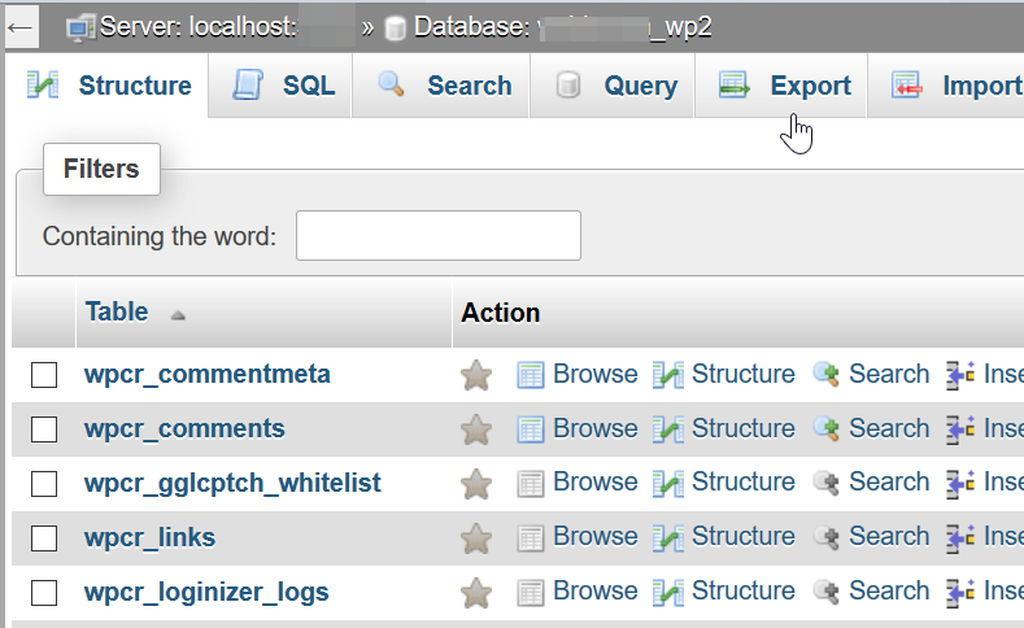 Image result for wordpress database