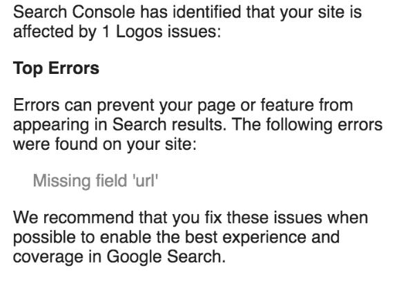 Logos missing URL